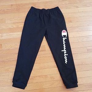 Boy's Champion black jogger pants